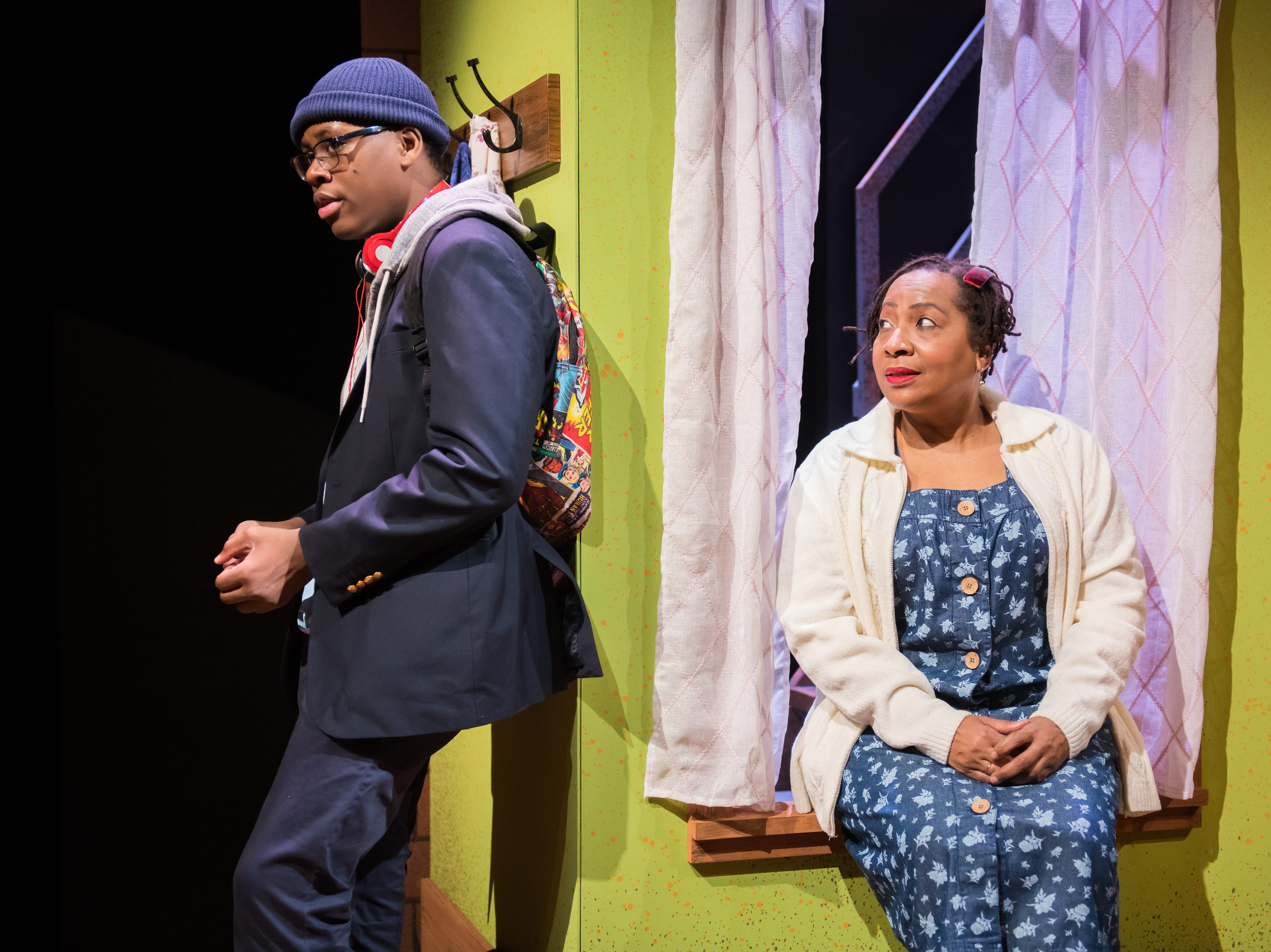 """Kamani Graham and Tosha Freeman perform in First Stage's production of """"Locomotion"""" by Jacqueline Woodson, which continues through Feb. 24 at the Milwaukee Youth Arts Center, 325 W. Walnut St."""