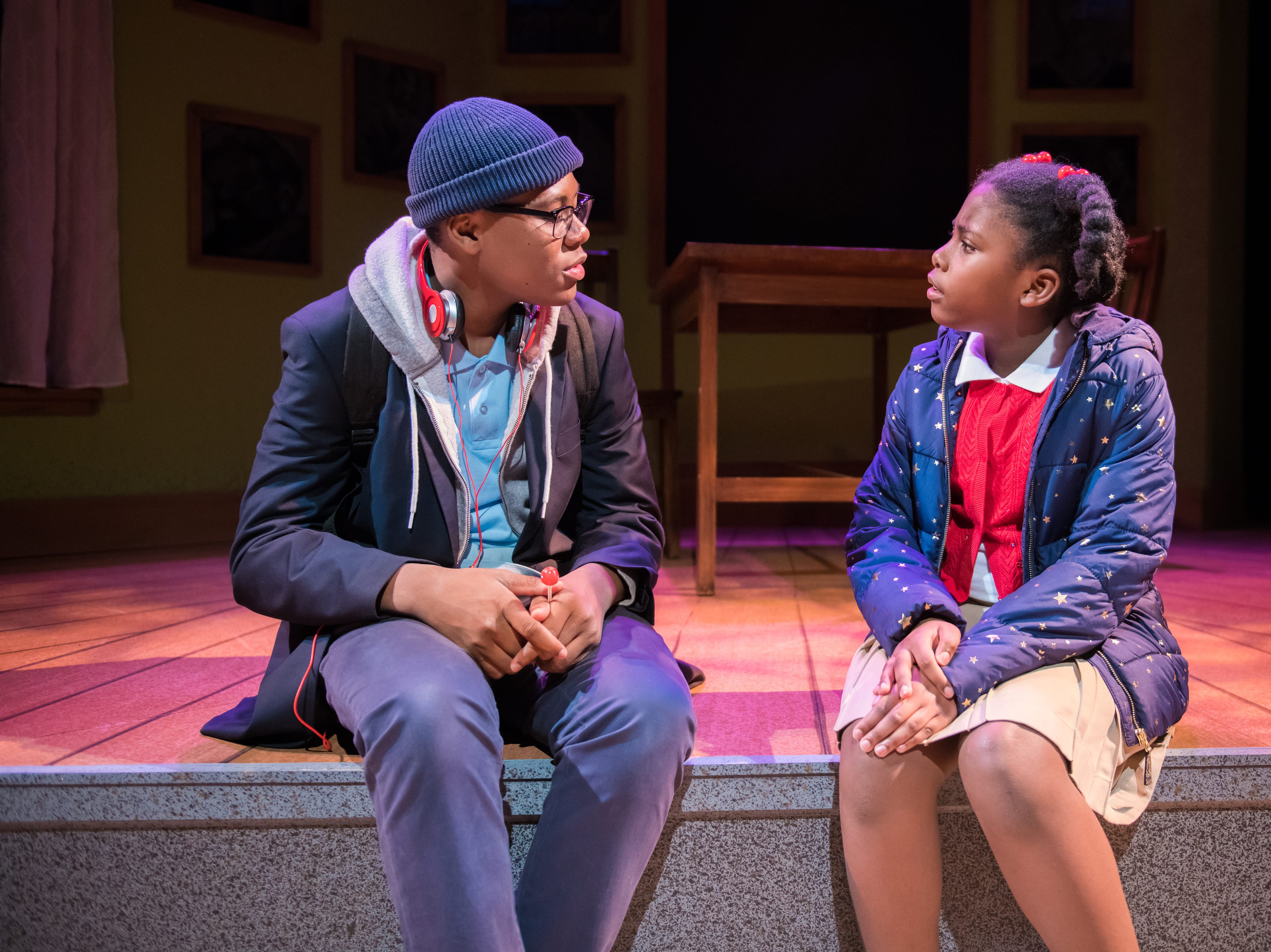 """Kamani Graham and Aura Grant perform in First Stage's production of """"Locomotion"""" by Jacqueline Woodson, which continues through Feb. 24 at the Milwaukee Youth Arts Center, 325 W. Walnut St."""