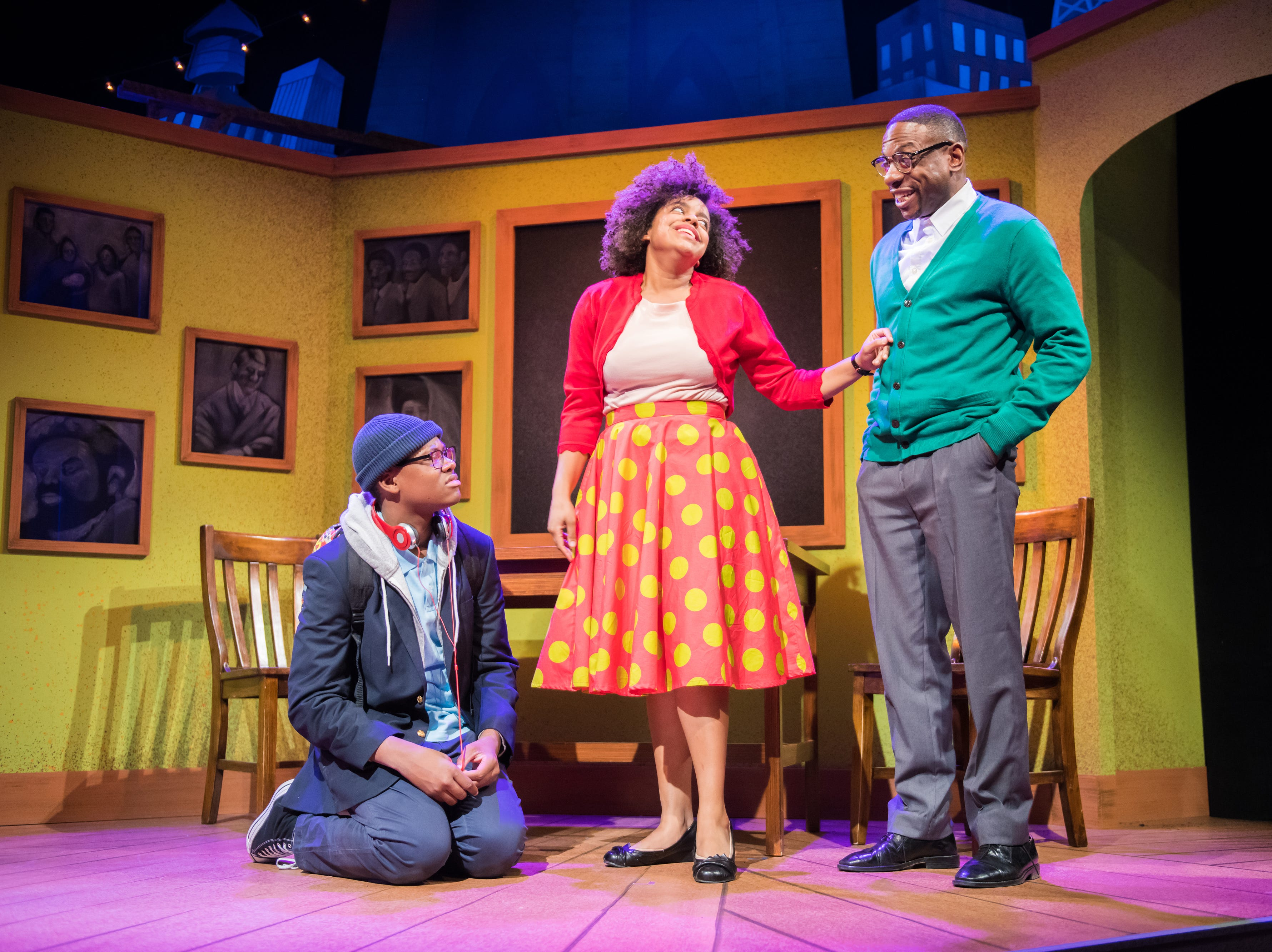 """Kamani Graham, Nadja Simmonds and Ronnel Taylor perform in First Stage's production of """"Locomotion"""" by Jacqueline Woodson, which continues through Feb. 24 at the Milwaukee Youth Arts Center, 325 W. Walnut St."""