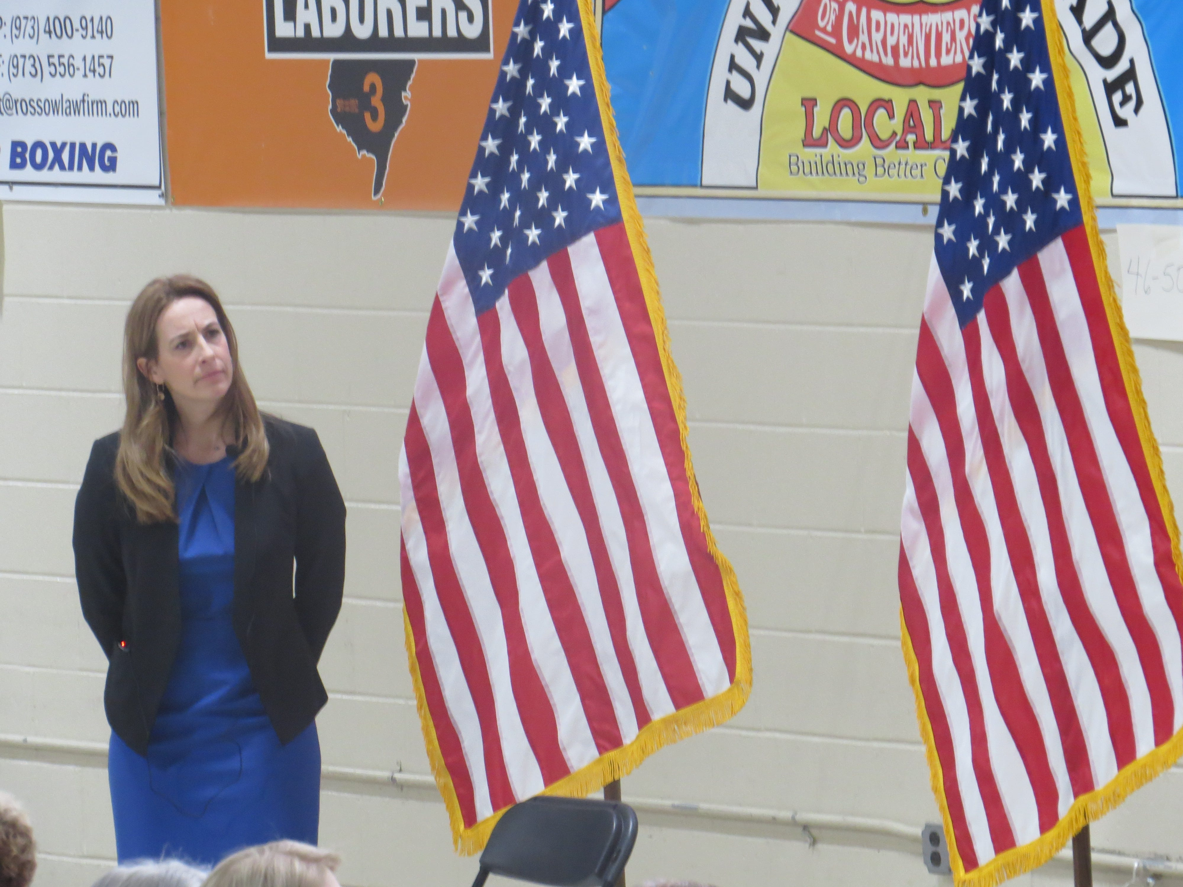 Dist. 11 Rep. Mikie Sherrill hosted her first town hall Jan. 22 at the Parsippany                         PAL Building.