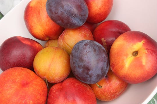 Fruit basket Plum Prune Nectarine Apple