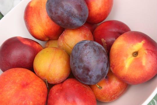 Fruit basket Plum Prune Nectarine Apple