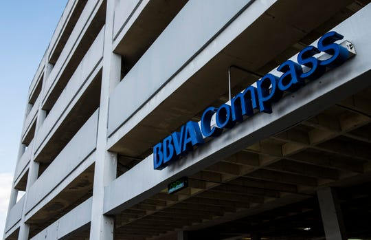 The BBVA Compass parking garage in Montgomery, Ala., on Monday, Jan. 28, 2019.