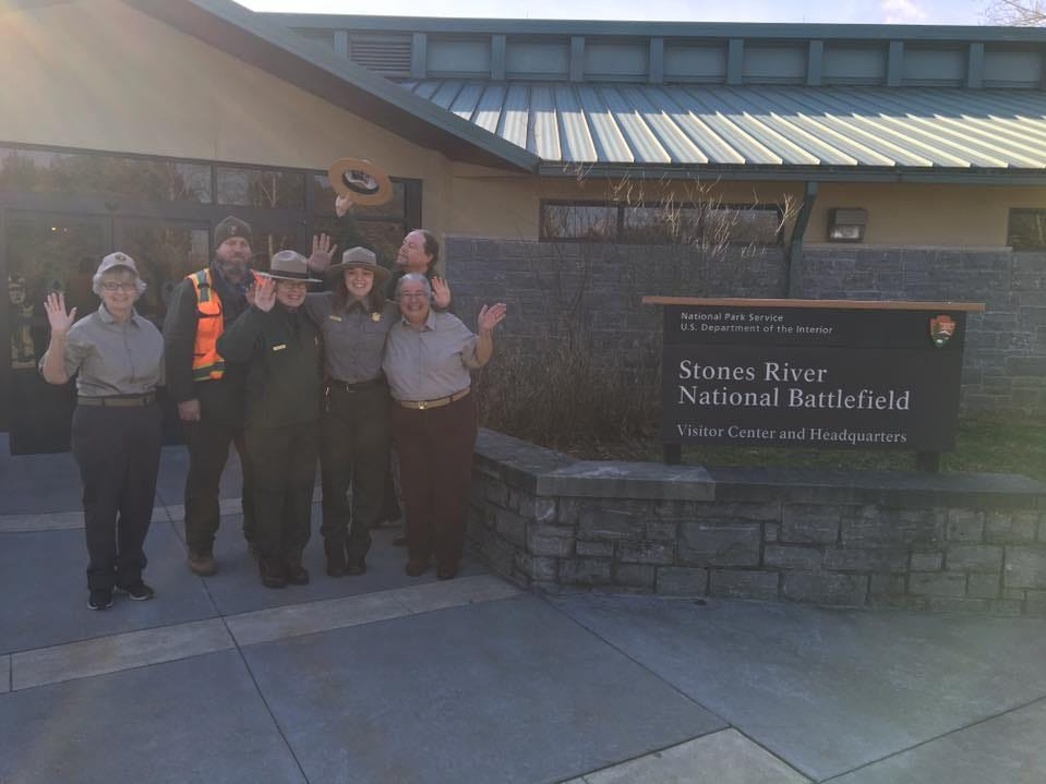 Stones River National Battlefield staff members welcomed visitors Saturday after being furloughed for five weeks due to the government shutdown that began Dec. 22, 2018.