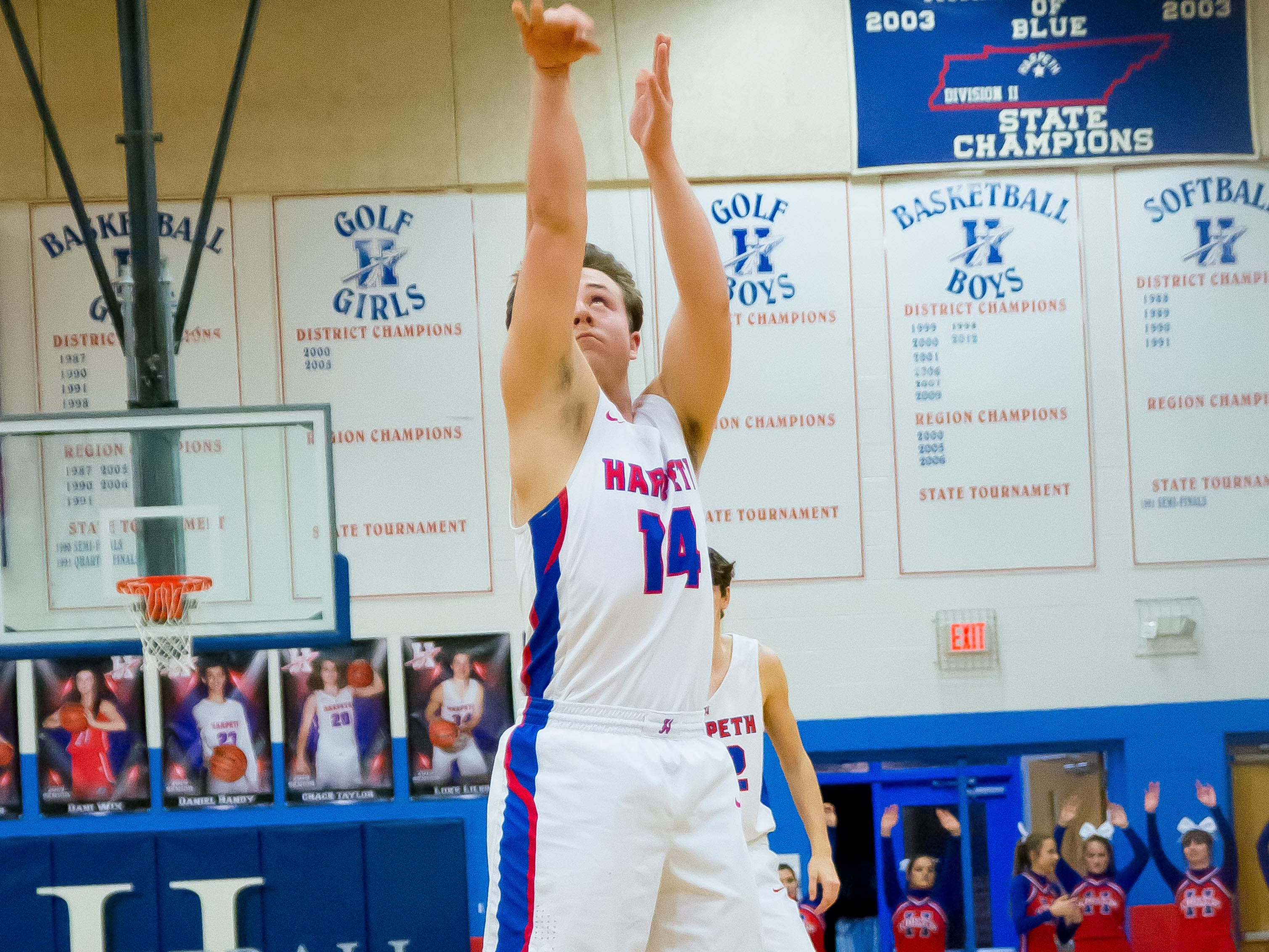 #14 Blake Provo at the line for Harpeth