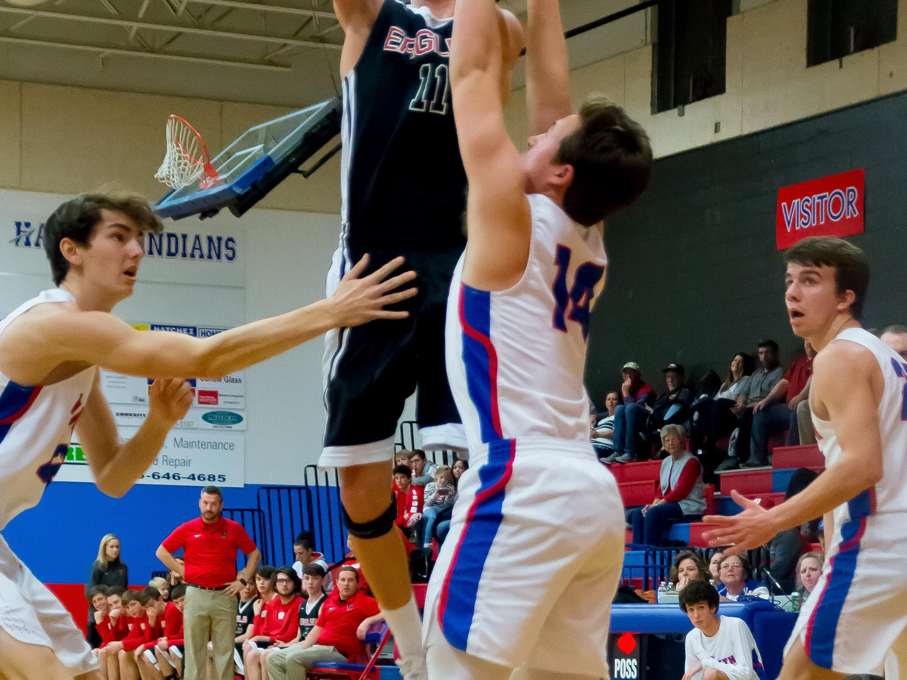 #11 Ryker Hodge putting up two points for Westmoreland.