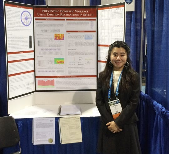 Ravenwood High student Gabrielle Liu participates in the 2018 Intel International Science and Engineering Fair.