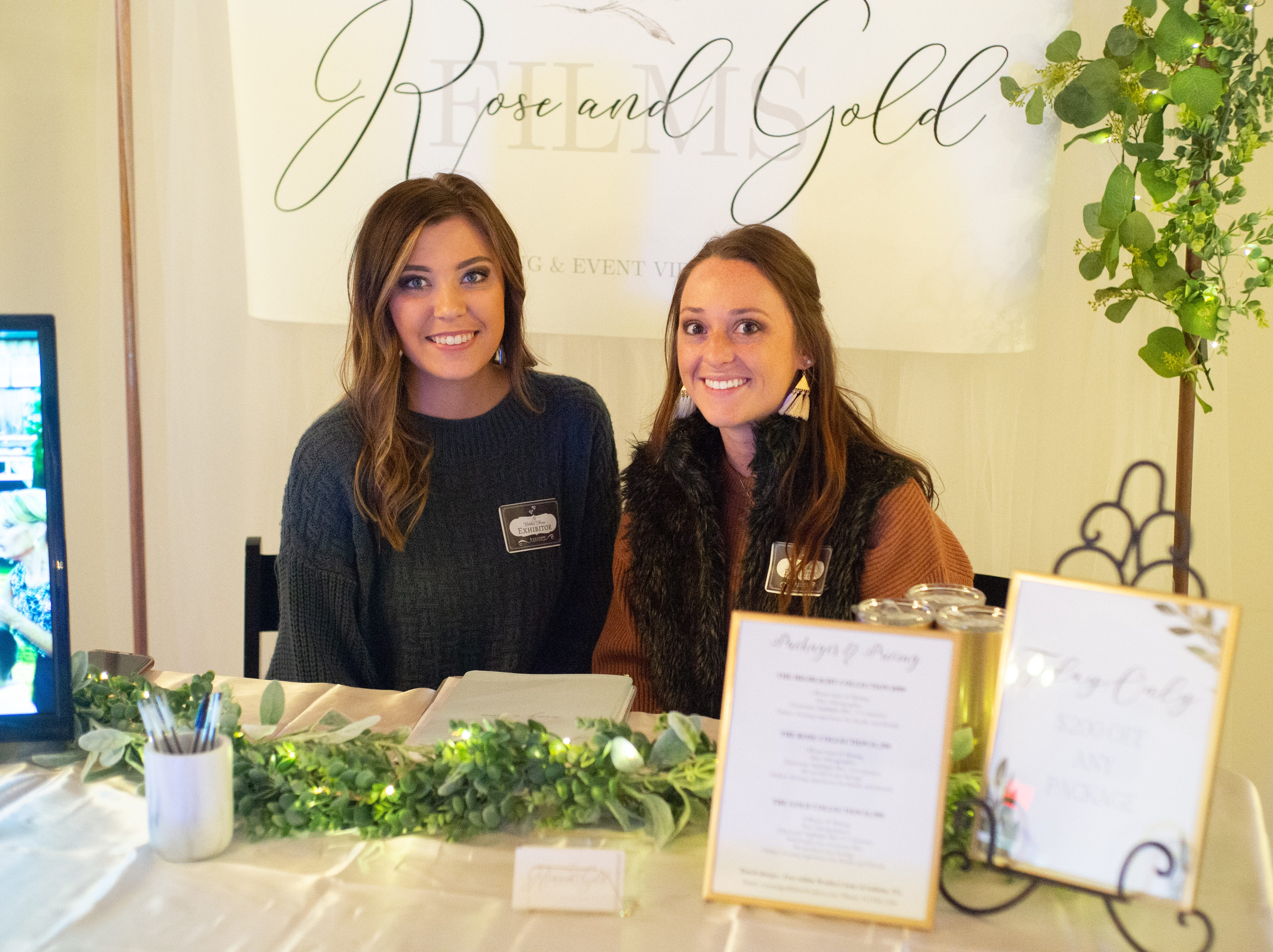 Rose & Gold Films chats with attendees of the Sumner County Bridal Show at Epic Event Center in Gallatin on Sunday, Jan. 27.