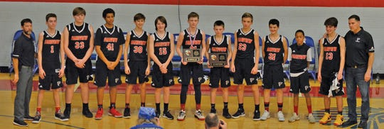 Fairview Middle School Falcons boys basketball team finished runner-up in MTAC Conference Tournament on January 17, 2019.