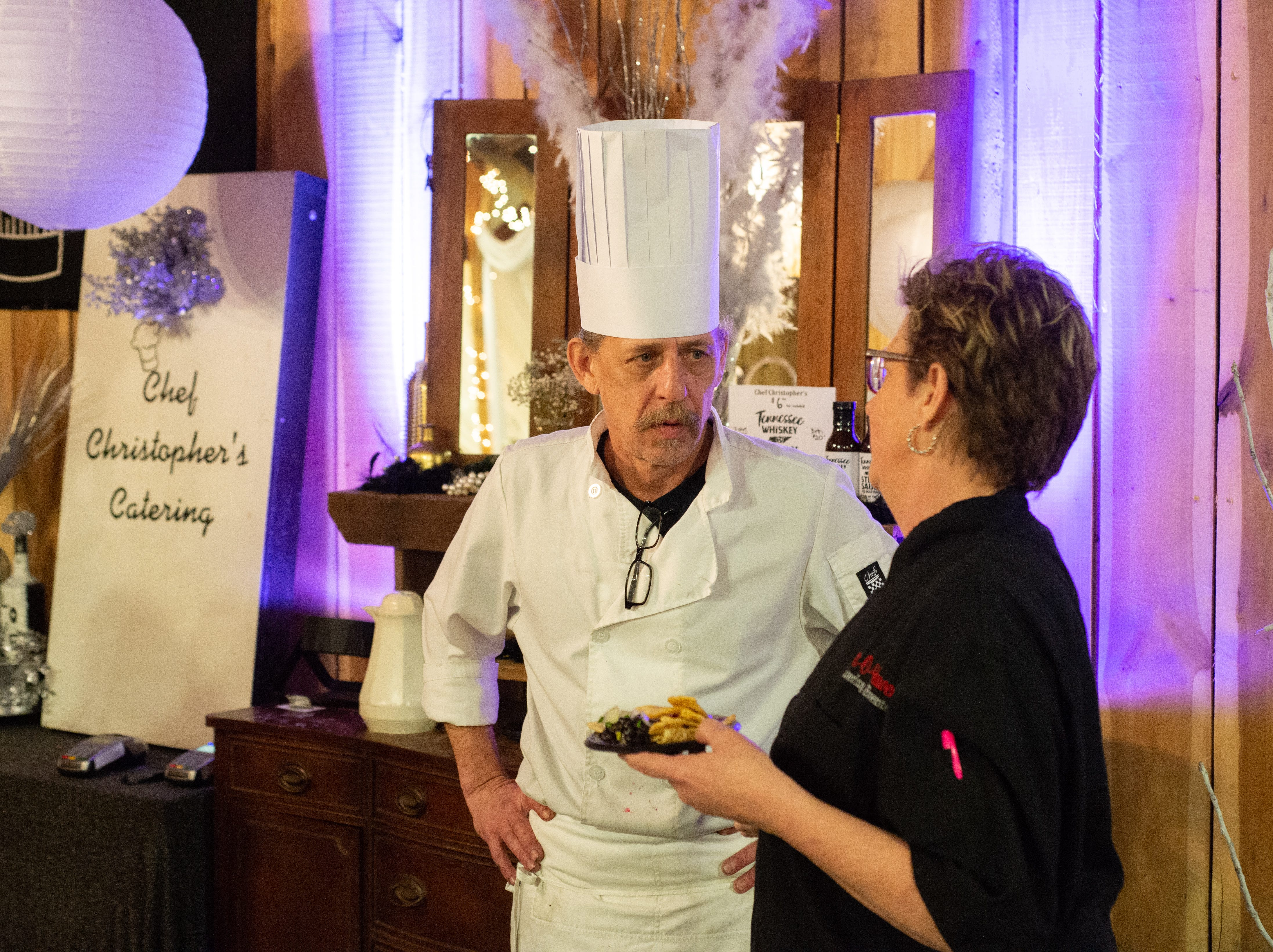 Chef Christopher's Catering brought food to sample during the Sumner County Bridal Show at Epic Event Center in Gallatin on Sunday, Jan. 27.