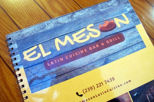 El Meson's glossy spiral-bound menu is easy to navigate with separate sections for its Cuban, Mexican and Venezuelan cuisines.