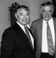 George Vega, left, and Lawton Chiles, a former U.S. senator and the 41st governor of Florida.