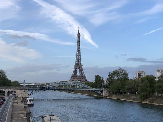 Eiffel Tower along the Seine River in Paris.