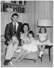 George Vega with his wife, Joan Vega, and daughters Susie Vega and Lynn Cravey.