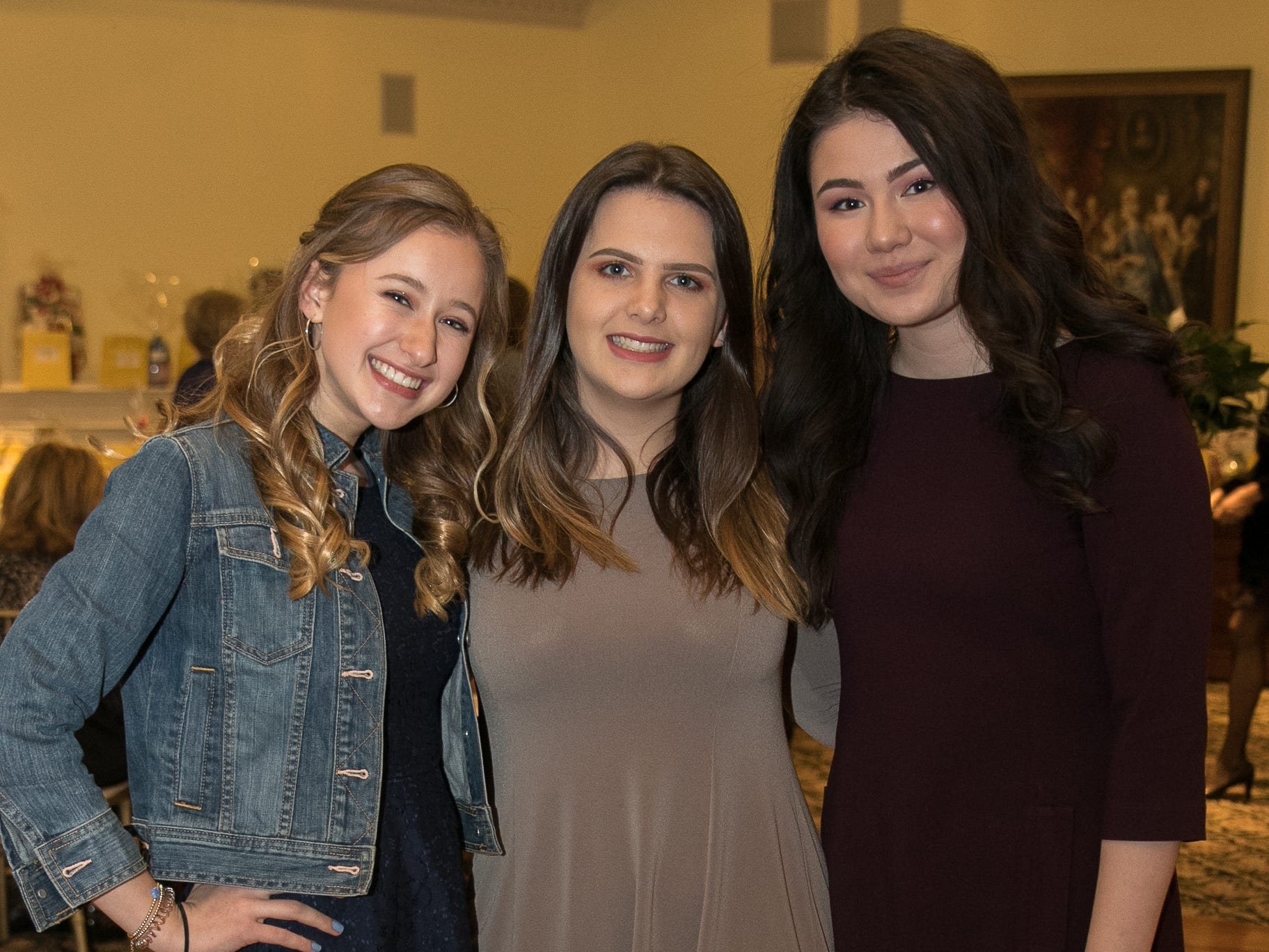 Jackie Lellinbo, Julia Smith, Sofia Kadire. The Midland Park Ramapo Eisenhower React/ Interact Clubs held it's sixth Annual fashion show and tricky tray at The Brick House in Wyckoff. 01/27/2019