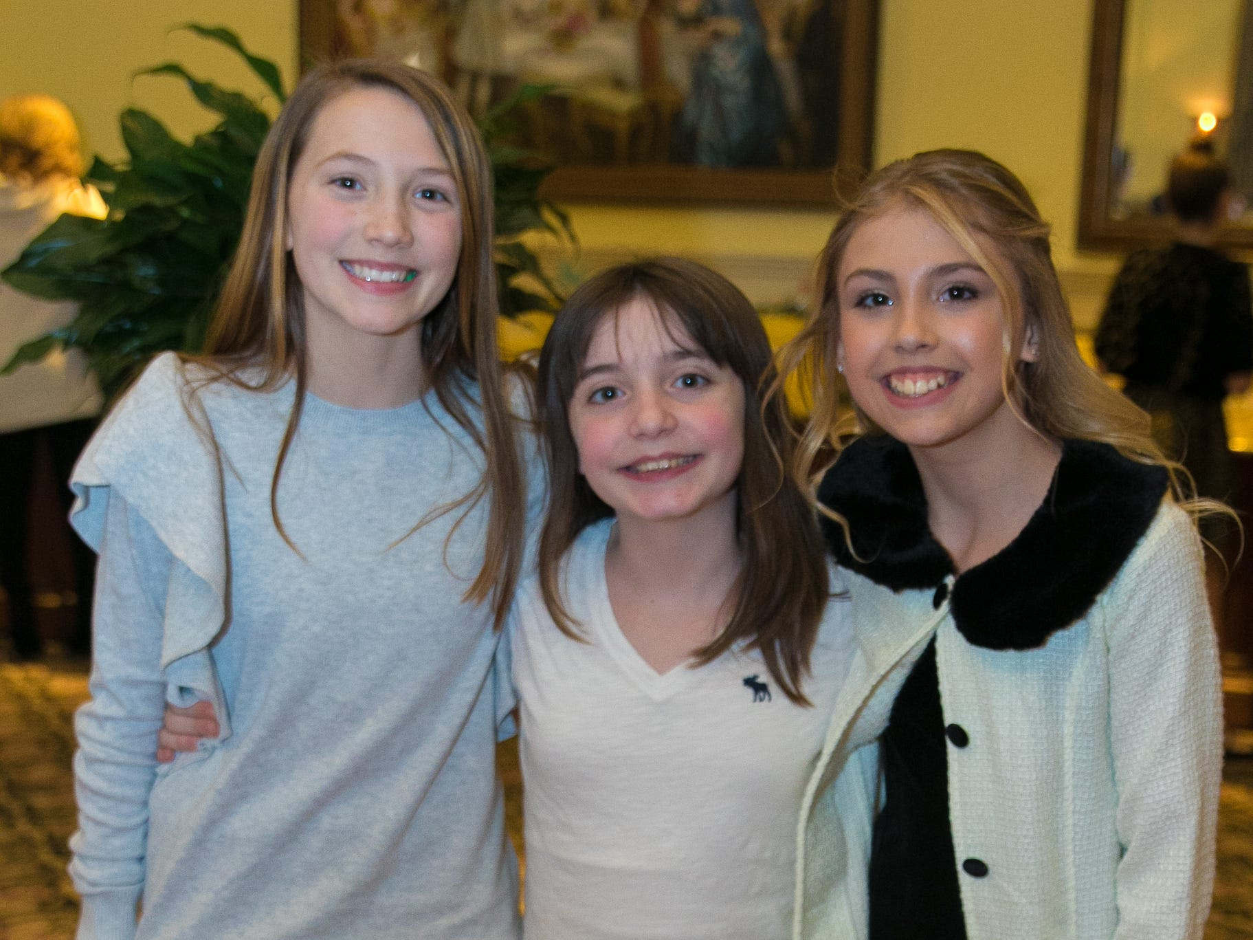 Maddie, Sofia, Amelia. The Midland Park Ramapo Eisenhower React/ Interact Clubs held it's sixth Annual fashion show and tricky tray at The Brick House in Wyckoff. 01/27/2019