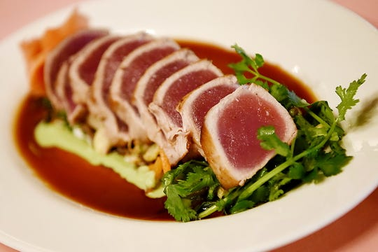 Pan-seared rare Ahi tuna at The Grand Cafe in Morristown