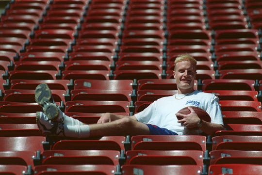 Rams special teams coordinator John Fassel, son of former Giants coach Jim, is seen here in a 1999 file photo at the old Giants Stadium.