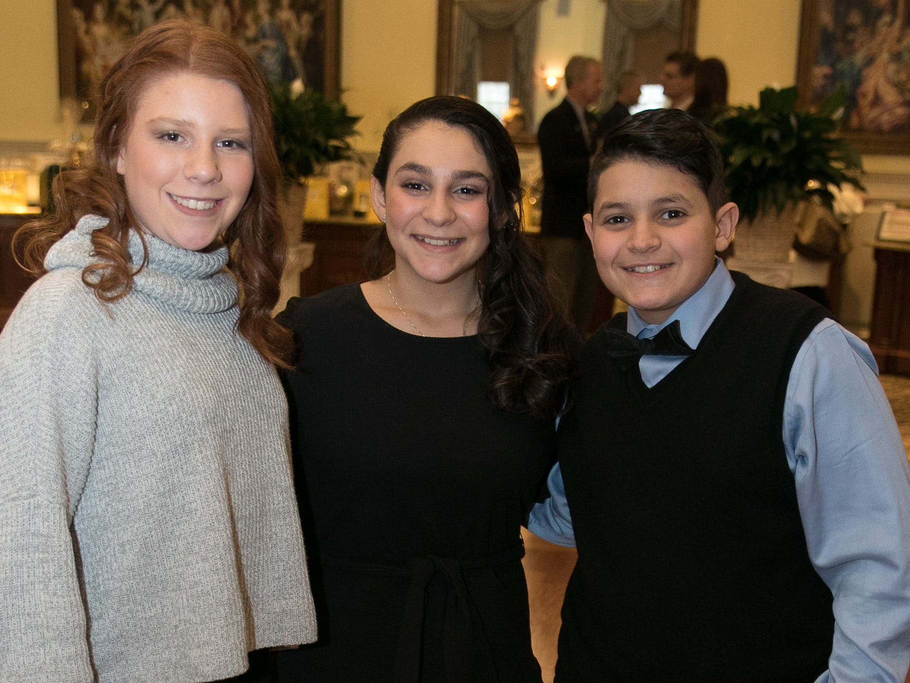 Caterina, Victoria, Alexander. The Midland Park Ramapo Eisenhower React/ Interact Clubs held it's sixth Annual fashion show and tricky tray at The Brick House in Wyckoff. 01/27/2019