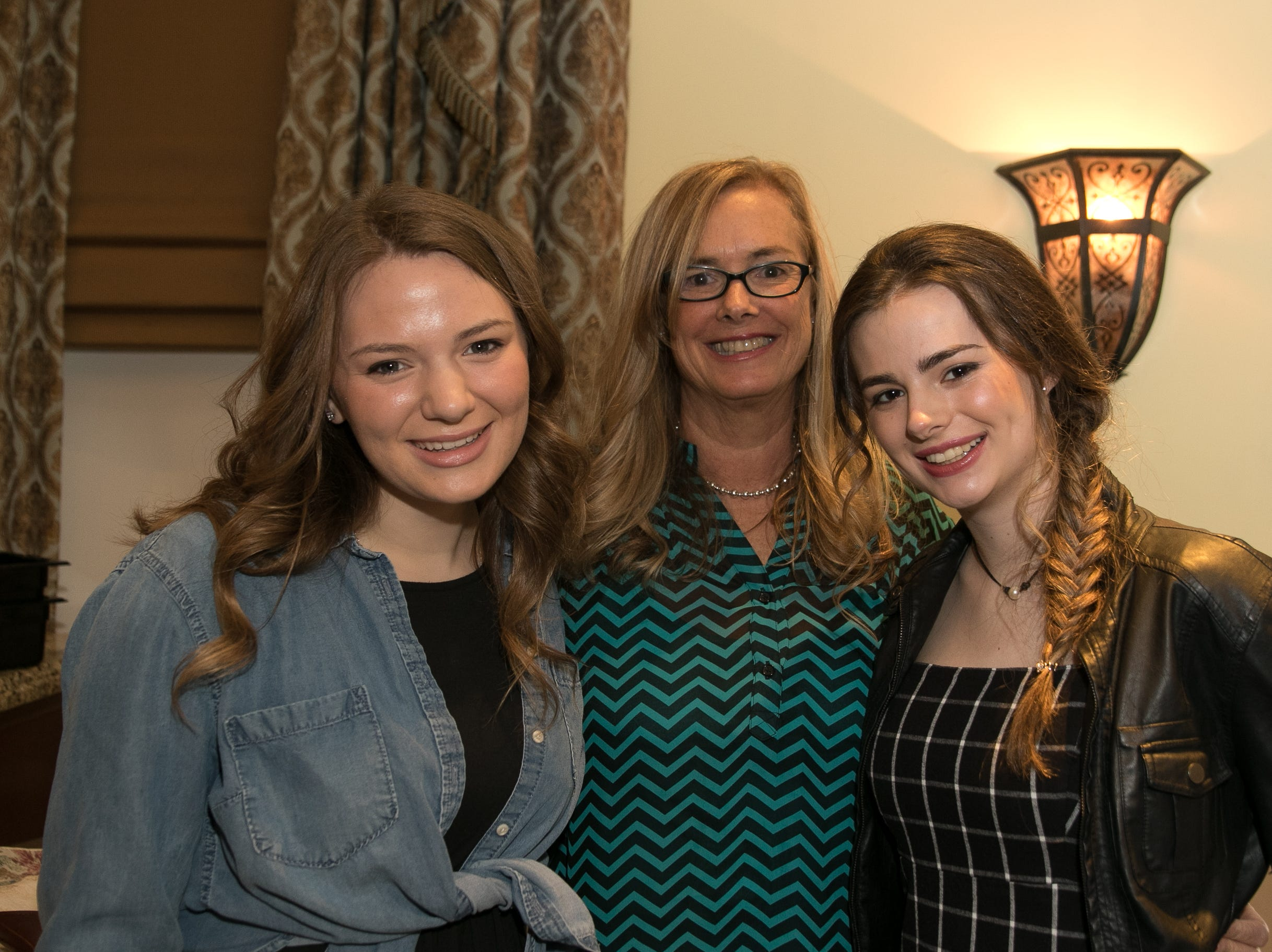Emma Moorman, Kathy and Julia Bagli. The Midland Park Ramapo Eisenhower React/ Interact Clubs held it's sixth Annual fashion show and tricky tray at The Brick House in Wyckoff. 01/27/2019
