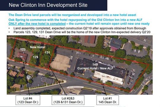 Plans for the Clinton Inn, Tenafly