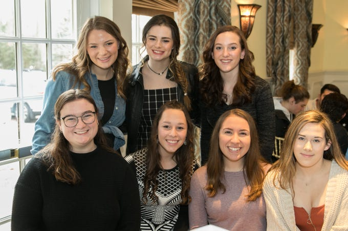 Models from Ramapo High School. The Midland Park Ramapo Eisenhower React/ Interact Clubs held it's sixth Annual fashion show and tricky tray at The Brick House in Wyckoff. 01/27/2019