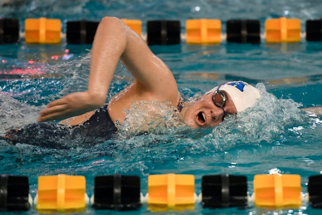IHA's Kelly McDermott competes in the 500-yard freestyle during the Bergen County Meet of Champions on Sunday, Jan. 27, 2019, in West Nyack.