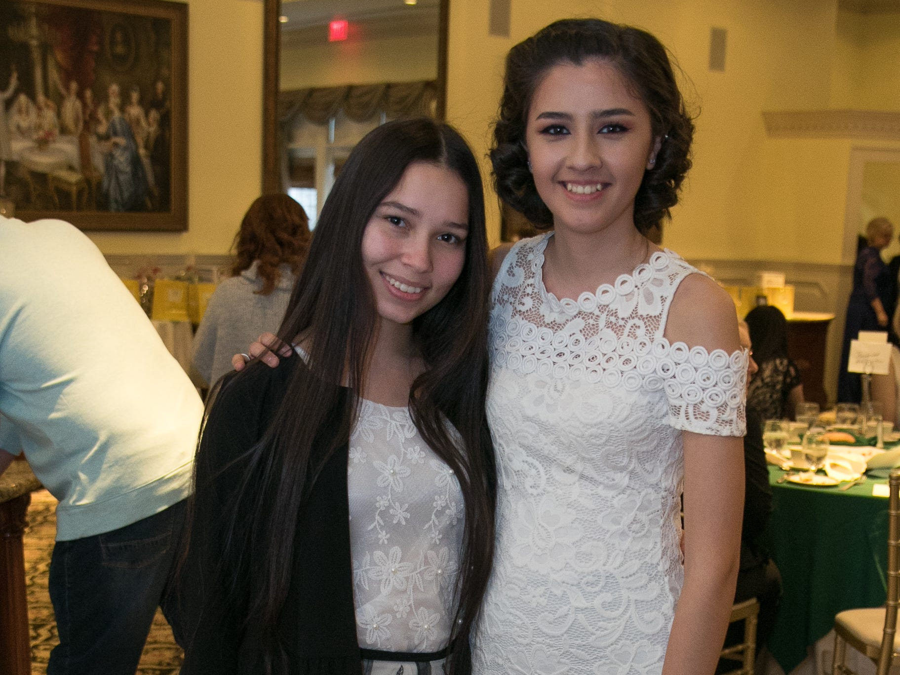 Deborah Gonzalez, Alejandra Cruz. The Midland Park Ramapo Eisenhower React/ Interact Clubs held it's sixth Annual fashion show and tricky tray at The Brick House in Wyckoff. 01/27/2019