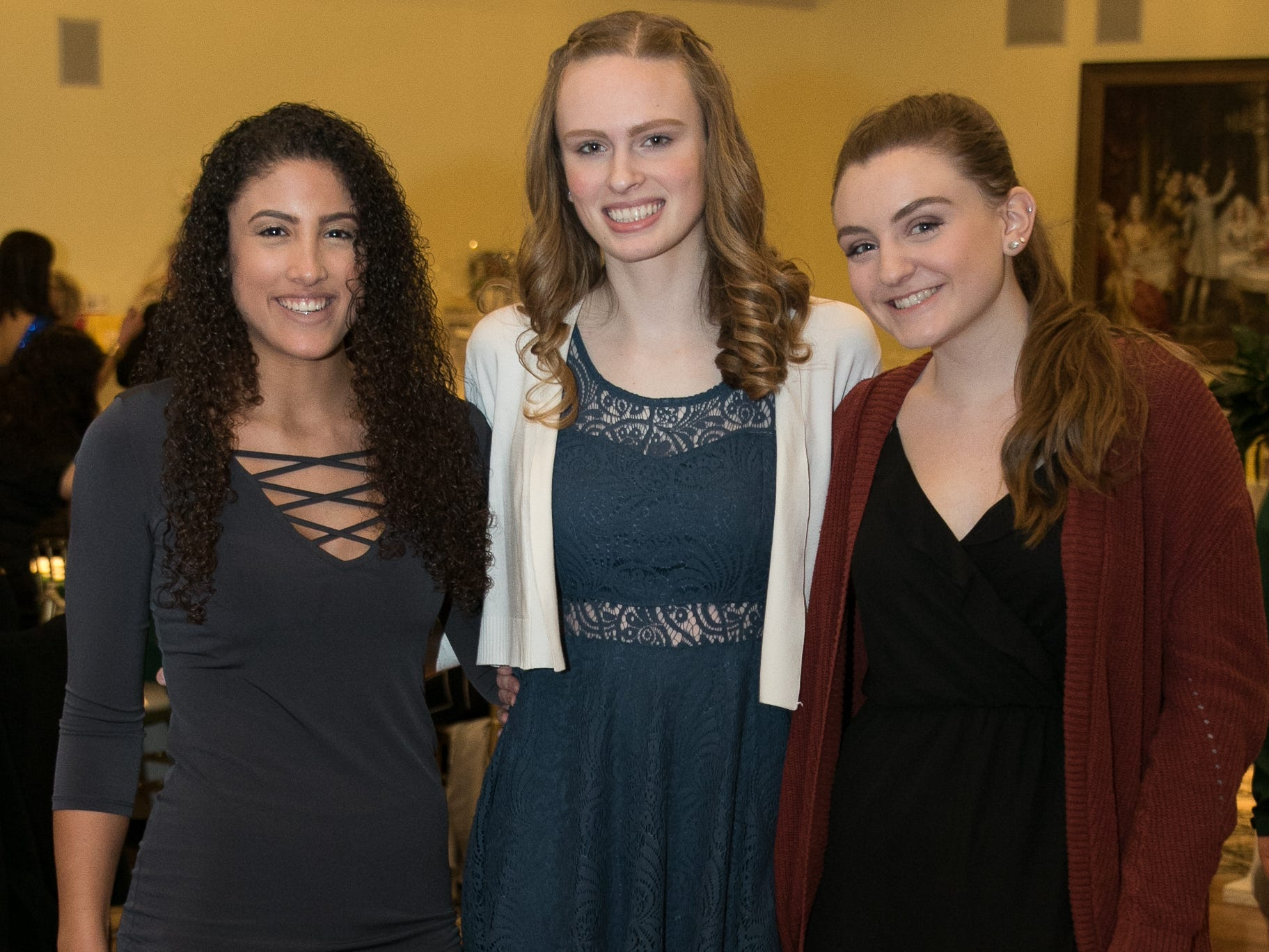 Emilie Ghalam, Gillian Luberoff, Mackenzie Kamp. The Midland Park Ramapo Eisenhower React/ Interact Clubs held it's sixth Annual fashion show and tricky tray at The Brick House in Wyckoff. 01/27/2019