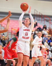 Katherine Haines, the Sacred Heart University graduate student from Ridgefield Park, has been on a scoring tear.