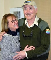 Elly and park manager John Read were surprised by retirement party at Pancho Villa State Park in Columbus, NM.