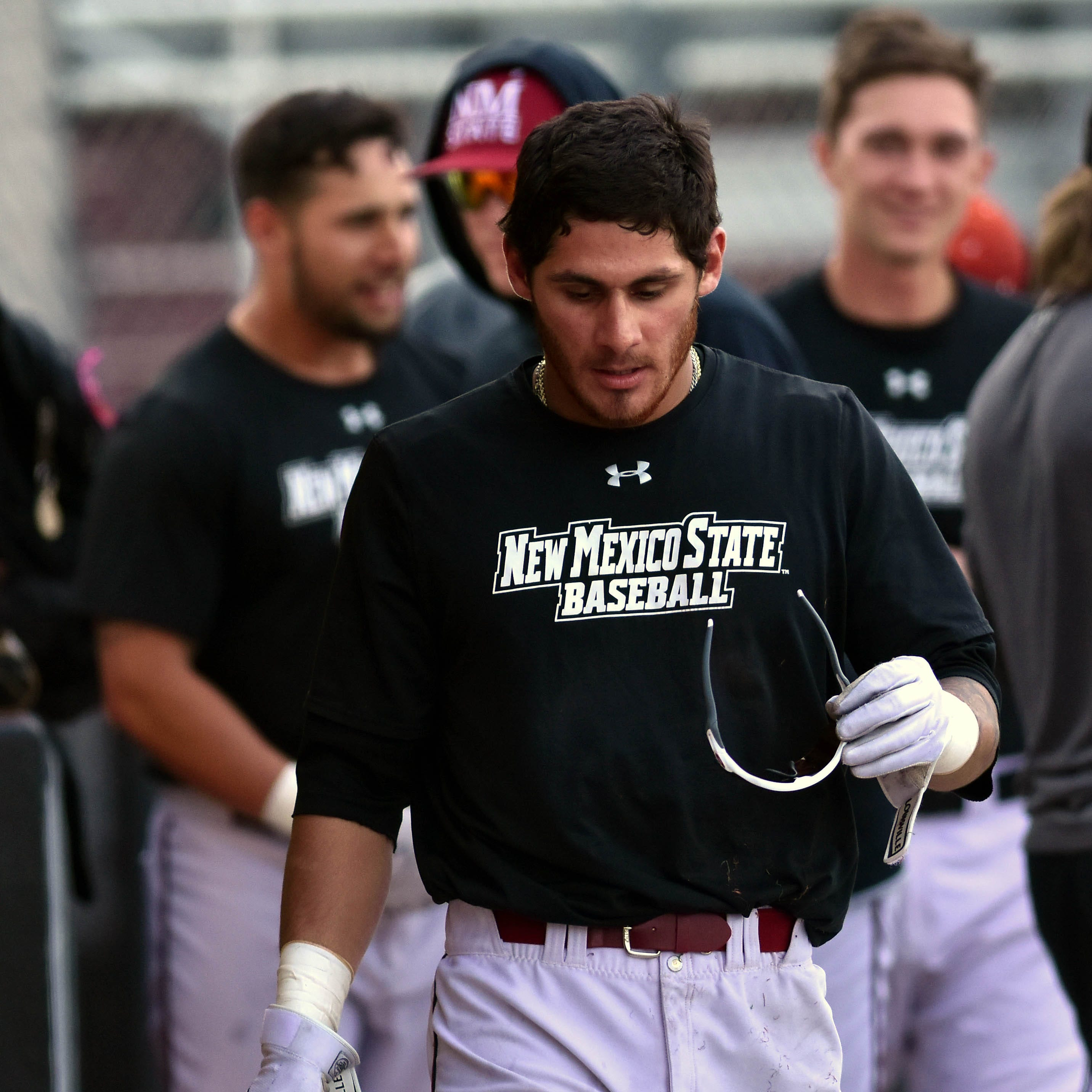 New Mexico State baseball player Joey Ortiz hits for cycle, named WAC Hitter of the Week