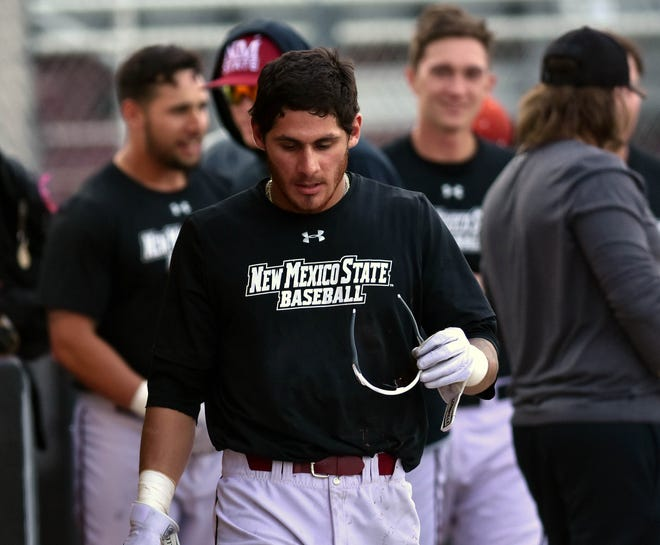 Aggie Joey Ortiz was named the WAC Hitter of the Week after hitting for the cycle on Sunday.