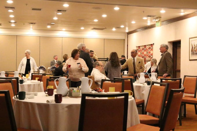 State lawmakers and Carlsbad leaders meet Jan. 28, 2019 at the Hotel Santa Fe for the annual WIPP Legislative Breakfast.