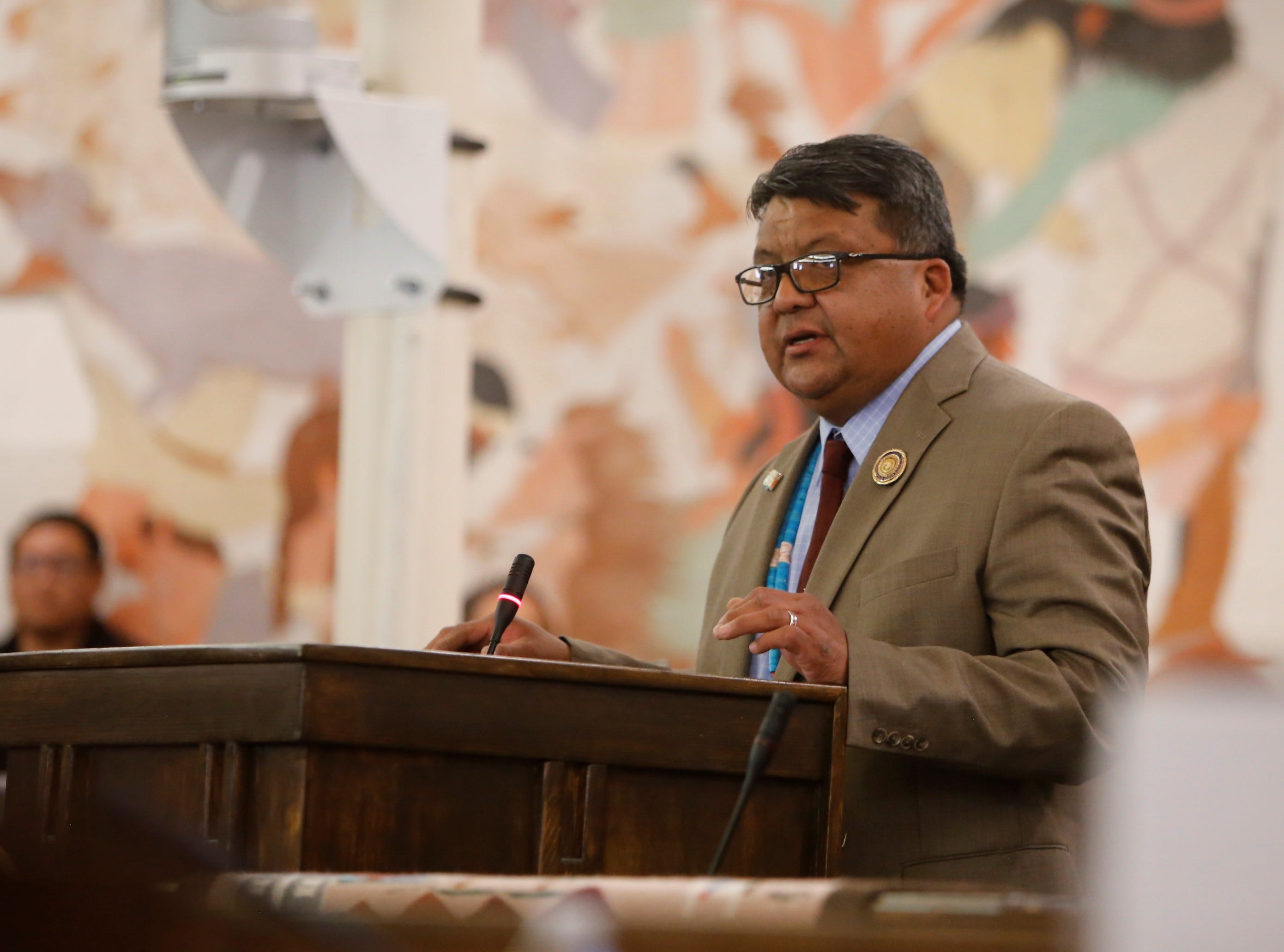 Delegate Edmund Yazzie was nominated to serve as speaker of the Navajo Nation Council. He finished second in the final round of voting for the seat.