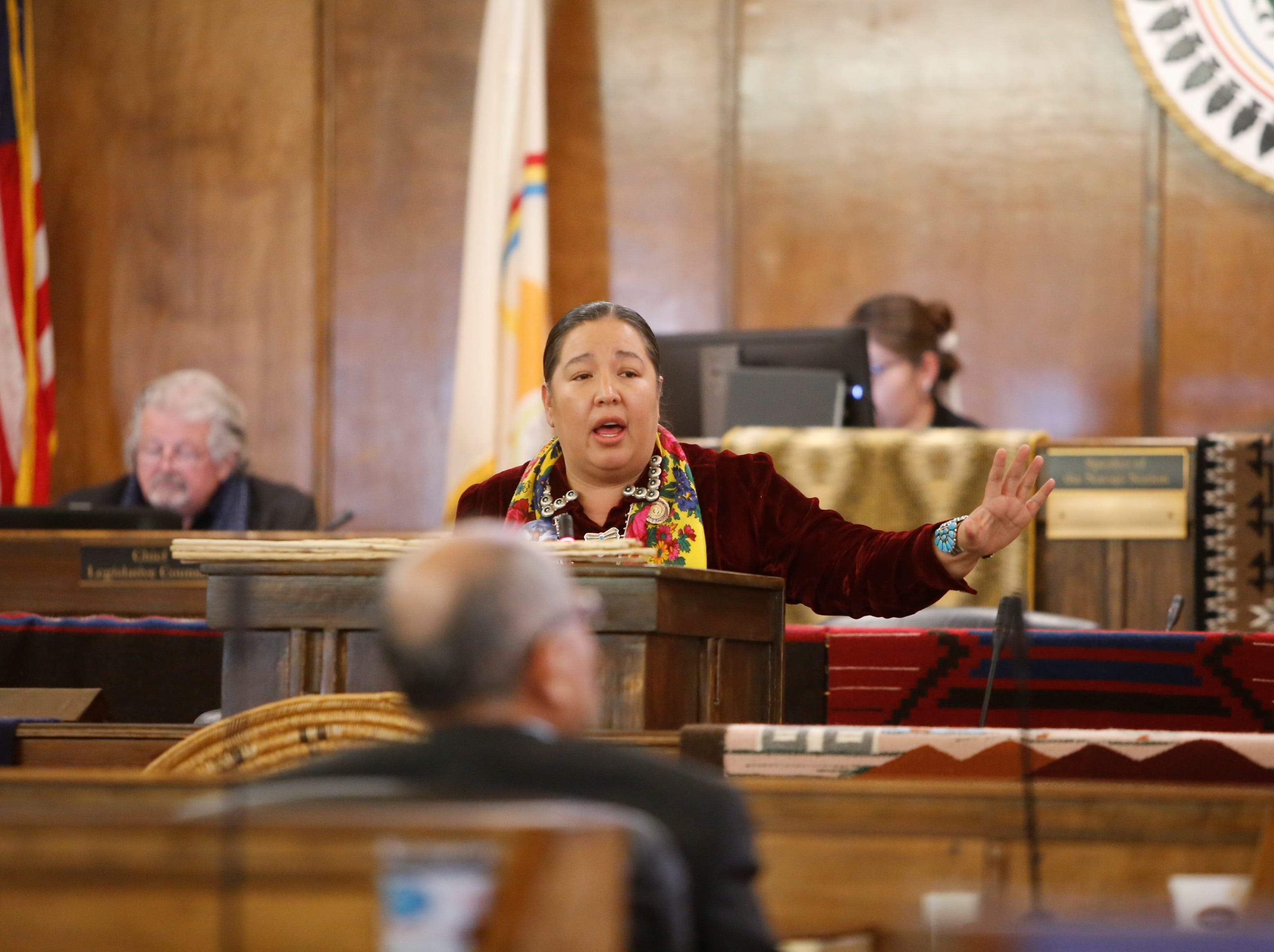 Delegate Amber Kanazbah Crotty was among four nominees for the speaker seat for the Navajo Nation Council.