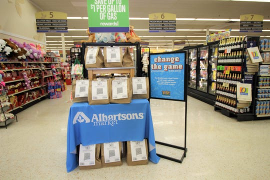 Alabertsons on Mechem drive is participating in the Souper Bowl food drive. The store has a pre-packaged non-parishable food items for $!0. Donations can be made at the check out counter as well.