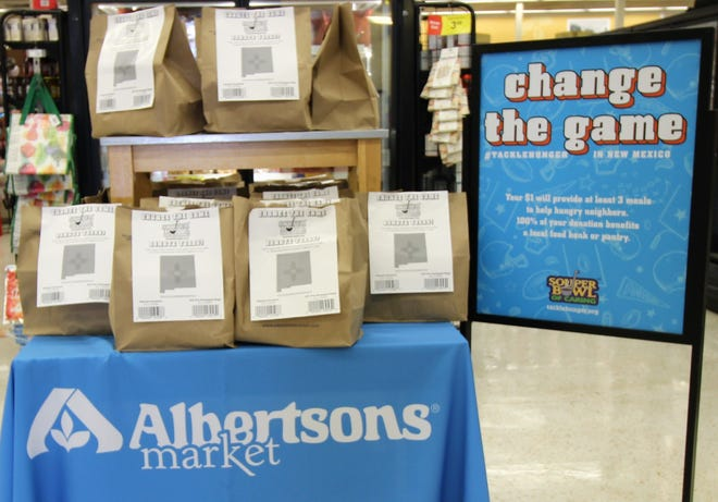 Albertsons Market annual Souper Bowl of caring food drive will run until Feb. 3 at 721 Mechem drive in Ruidoso. Other stores participating are in Alamogordo, Hobbs, Carlsbad and Roswell. The fund raiser is to help feed hungry people in New Mexico.