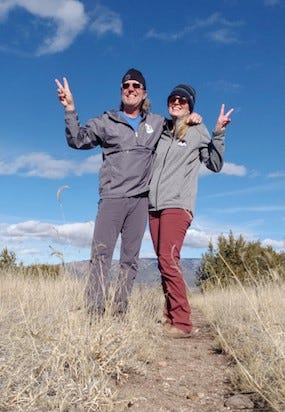 Rich and Anna Dozier enjoying the views on Kit Carson Trail.