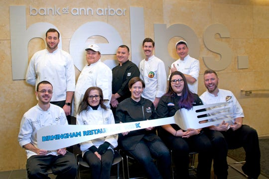 Front row from left: Chefs John Knox, Fadwa Aoude, Devon Follbaum, Bea Rocchetti and Christopher Gadulka. Back row: Chefs Hisham Diab, Khalil Bazzi, Jose Chacon, Jamie Buckley and Jonathan Rickloff.