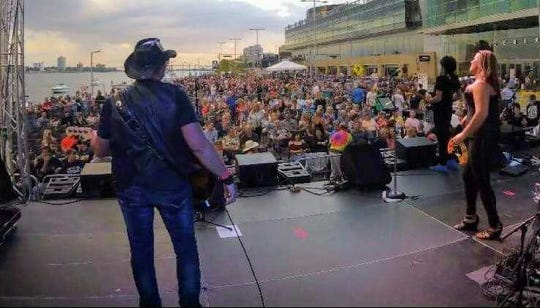 Power Play Detroit opened for .38 Special during last summer's Rockin' the Riverfront music festival in Detroit.
