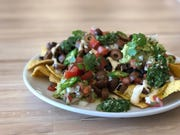 Seitan carne asada nachos from Verdura, a soon-to-open vegan and kosher restaurant in central Phoenix.