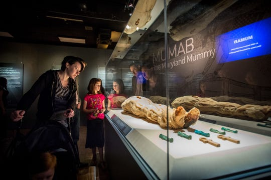 "This mummy created at the University of Maryland-Baltimore is part of the ""Mummies of the World"" exhibit. The exhibit will be featured at the Arizona Science Center from Feb. 10-Sept. 2, 2019."