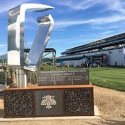 The new monument has been built at the 16th hole at TPC Scottsdale, honoring past holes in one