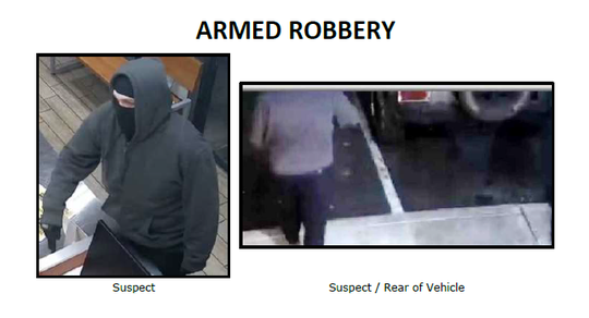 Silent Witness flier for the suspect involved in the Hungry Howie's Pizza robbery.