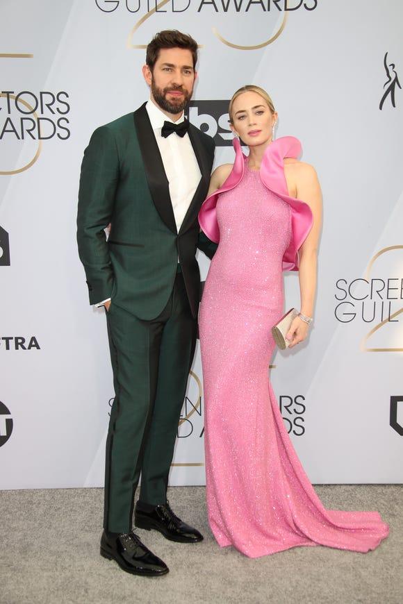 John Krasinski and Emily Blunt.
