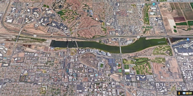 Tempe is proposing to revamp a four-mile stretch of the Salt River between Priest and McClintock drives over the next 20 to 30 years.