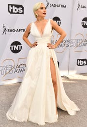 Lady Gaga attends the Screen Actors Guild Awards on Jan. 27, 2019, at the Shrine Auditorium in Los Angeles.