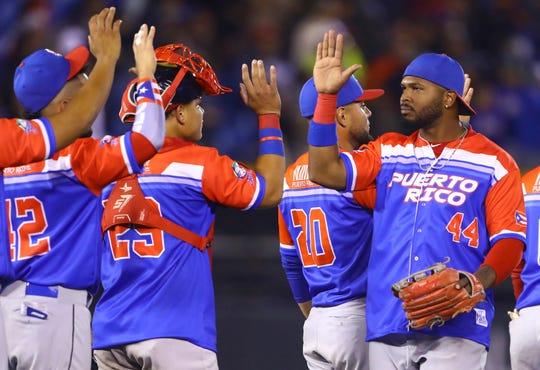 Puerto Rico, actuales campeones de la Serie del Caribe.