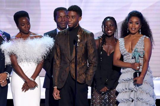 """""""Black Panther"""" se llevó el máximo honor el domingo en la ceremonia de los Premios SAG."""